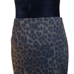 UP! Skirts - NWT UP! Luxury Bodycon Skirt Olive & Black Print 6